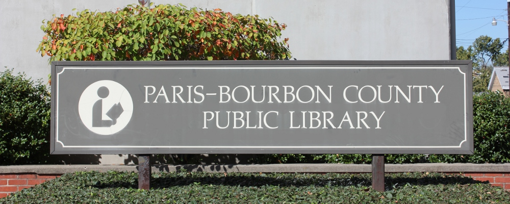 Paris-Bourbon County Library Sign