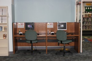 A picture of computers in the children's area