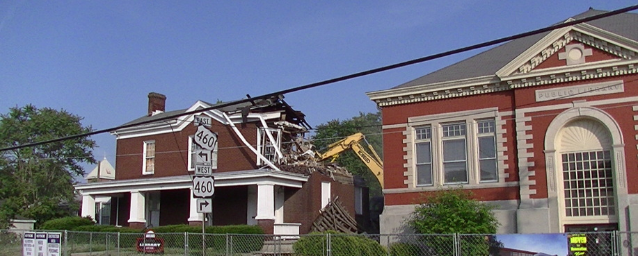 Demolition at 709 High Street