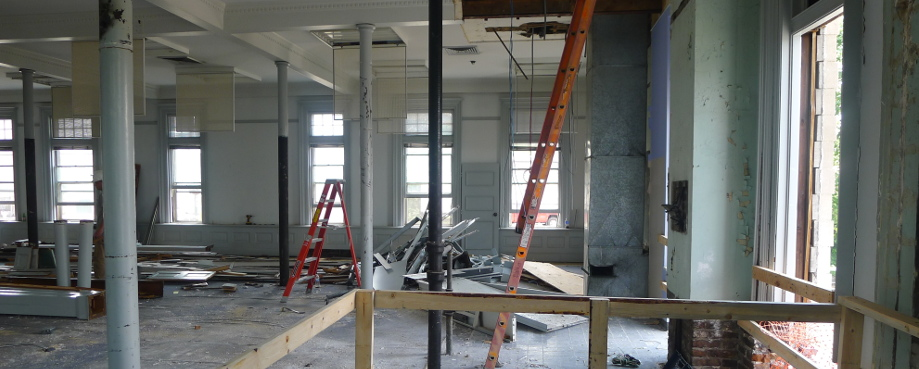 Renovation starts on 2nd Floor of Carnegie